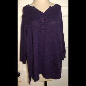 3/$25 Purple Dress Barn Sweater